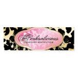 311 Bodacious Boutique Golden Leopard Spots Business Card Templates