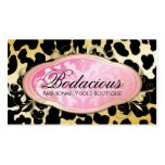 311 Bodacious Boutique Golden Leopard Spots Double-Sided Standard Business Cards (Pack Of 100)