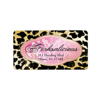 311 Bodacious Boutique Leopard Address Label