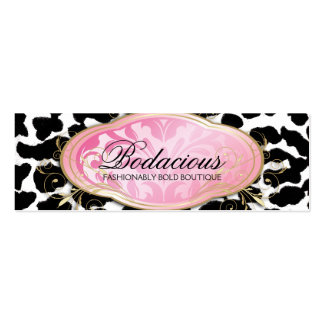 311 Bodacious Boutique Leopard Hang Tag Double-Sided Mini Business Cards (Pack Of 20)