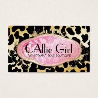 311 Bodacious Boutique Parisian Golden Leopard Business Card