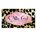 311 Bodacious Boutique Parisian Golden Leopard Double-Sided Standard Business Cards (Pack Of 100)