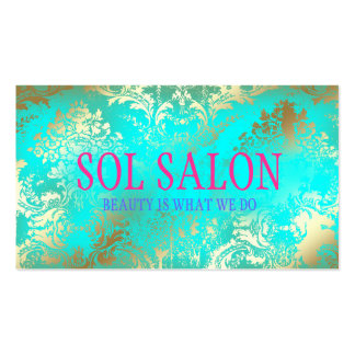 311 Boho Sol  Turquoise Spa, Salon or Boutique Business Card Templates