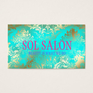 311 Boho Sol  Turquoise Spa, Salon or Boutique Business Card