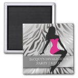 311-Bombshell Silhouette Party Favor 2 Inch Square Magnet