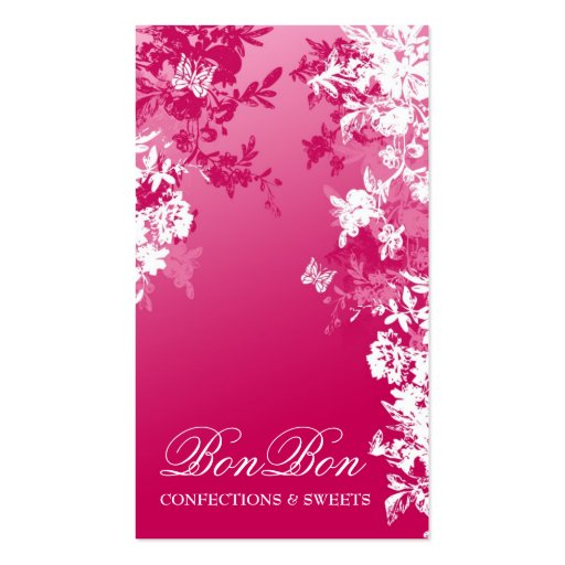 311 BON BON SWEET PINK FADE BUSINESS CARD TEMPLATES