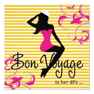 311 Bon Voyage Silhouette Nautical Theme Pink Card