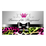 311 Bow-licious Hot Lime Pink Leopard Double-Sided Standard Business Cards (Pack Of 100)