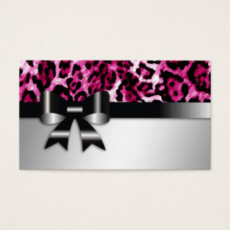 Pink leopard business cards best leopard 2017 name pink leopard business cards templates zazzle colourmoves Image collections