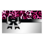 311 Bow-licious Hot Pink Leopard Name Card Business Cards