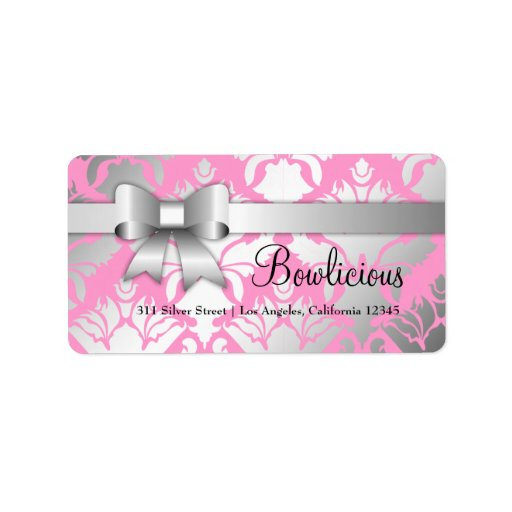 311 Bow-Licious Silver Label Damask Shimmer Pink