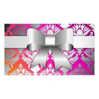 311-Bow-licious Wild Sunset Damask Business Card