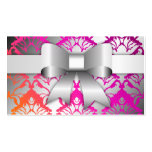 311-Bow-licious Wild Sunset Damask Double-Sided Standard Business Cards (Pack Of 100)