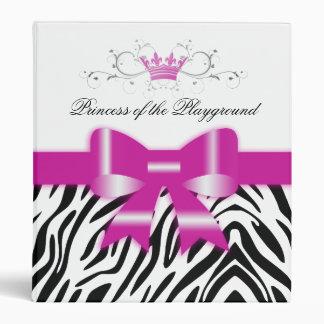 311 Bow-Licious Zebra Black, White & Pink Vinyl Binder