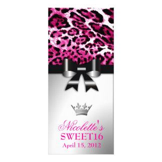 311 Bowlicious Hot Pink Leopard Rack Card Template