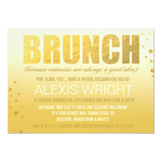 311 Brunch Because Mimosa Orange Ombre Card