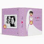 311-Brunette Bride Purple Vinyl Binders
