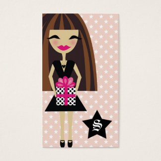 311-BRUNETTE/STAR/GIFT BUSINESS CARD