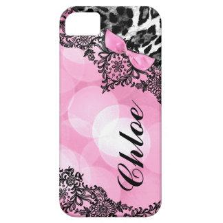 311 Bubblegum Pink Leopard Dream Lights faux bow iPhone SE/5/5s Case