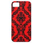 311 caja roja y negra del teléfono del damasco iPhone 5 Case-Mate fundas