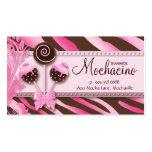 311 Cake Pops Business Card Bakery Pink Brwn Zebra