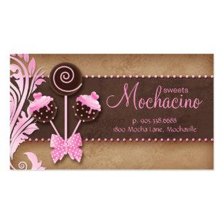 311 Cake Pops Business Card Bakery Vintage Pink