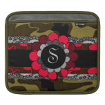 311 Camo Lace Red Monogram Sleeve For iPads