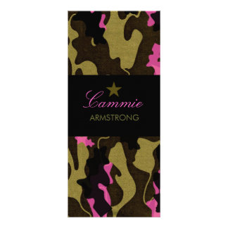 311 Camo Star Pink Rack Card