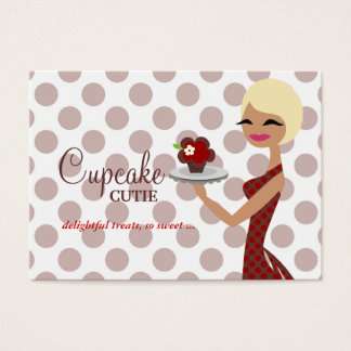 311 Candie Cupcake Blond Bob Red Business Card
