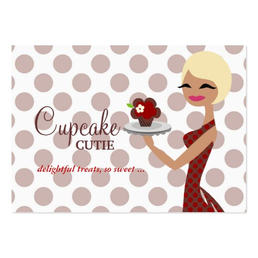 311 Candie Cupcake Blond Bob Red Business Cards