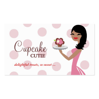 311 Candie Cupcake Cutie Pink Curly Hair Business Card
