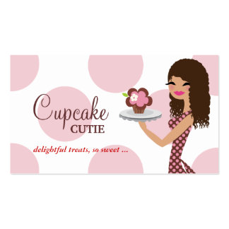 311 Candie Cupcake Cutie Pink Curly Hair Business Card