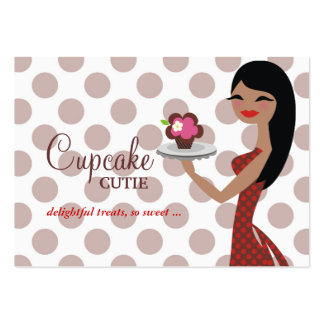 311 Candie Cupcake Cutie Red Straight Black Hair Large Business Cards (Pack Of 100)