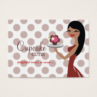 311 Candie Cupcake Cutie Red Straight Black Hair Business Card
