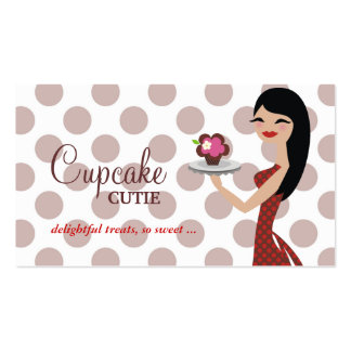 311 Candie Cupcake Cutie Red Straight Black Hair Business Card
