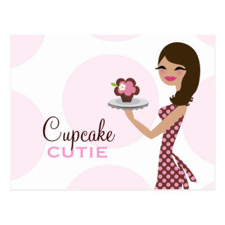 311 Candie Cupcake Cutie Wavy Brunette Post Card