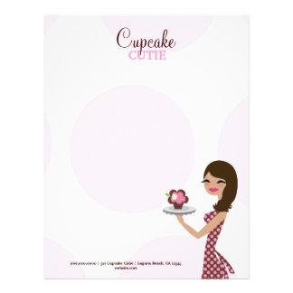 311-Candie el Brunette de Cutie de la magdalena Membrete A Diseño
