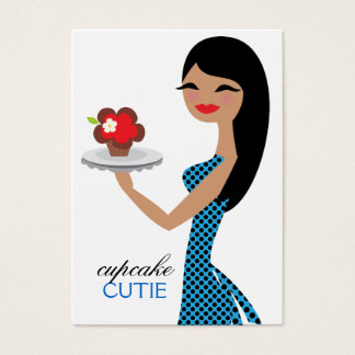 311 Candie the Cupcake Cutie Blue Black Straight Business Card