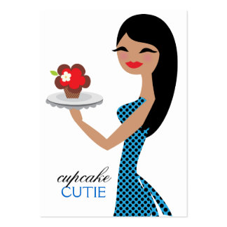 311 Candie the Cupcake Cutie Blue Black Straight Large Business Card