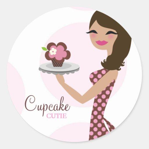 311-Candie the Cupcake Cutie Brunette Sticker