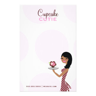 311 Candie the Cupcake Cutie Wavy Ethnic Stationery