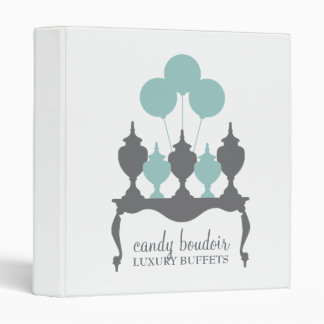 311 Candy Boudoir Rococo Robin Egg Blue and Gray 3 Ring Binder