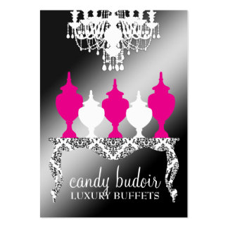 311 Candy Budoir Rococo Black Shimmer Large Business Cards (Pack Of 100)