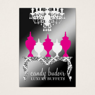 311 Candy Budoir Rococo Black Shimmer Business Card