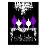 311 Candy Budoir Rococo Deep Purple Large Business Card