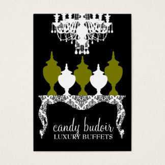 311 Candy Budoir Rococo Olive Green Business Card