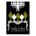 311 Candy Budoir Rococo Olive Green Business Cards