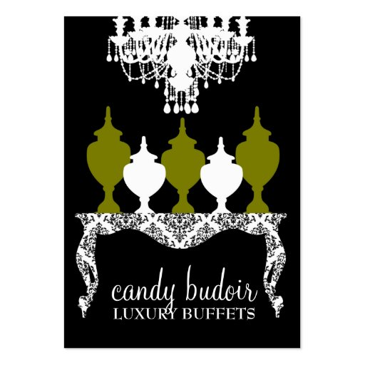 311 Candy Budoir Rococo Olive Green Large Business Cards (Pack Of 100)