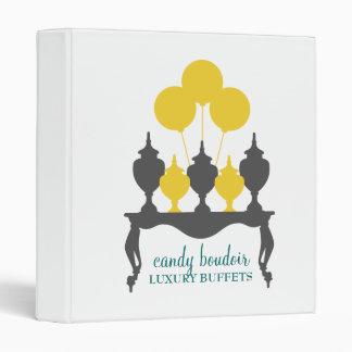 311 Candy Budoir Yellow Gray 3 Ring Binder