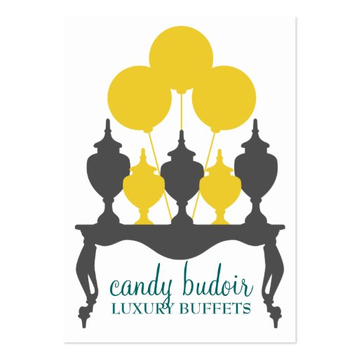 311 Candy Budoir Yellow Gray Large Business Card